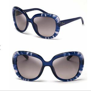 Christian Dior blue tie dye sunglasses- like new